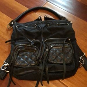 Convertible nylon &leather Nine West bag/backpack